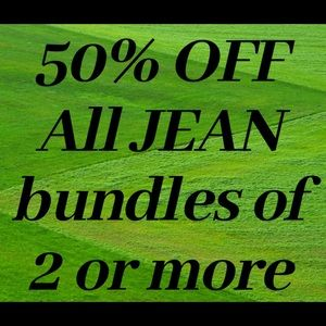 50% off Jeans when bundles with 2 or more pairs